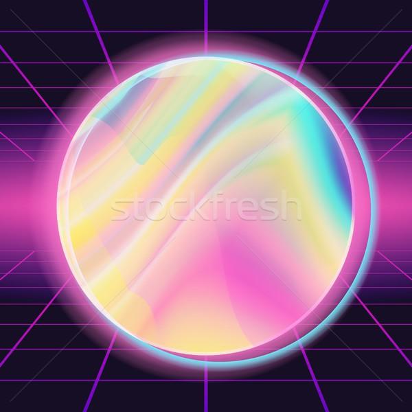 80s vector modieus moderne ontwerp neon Stockfoto © pikepicture