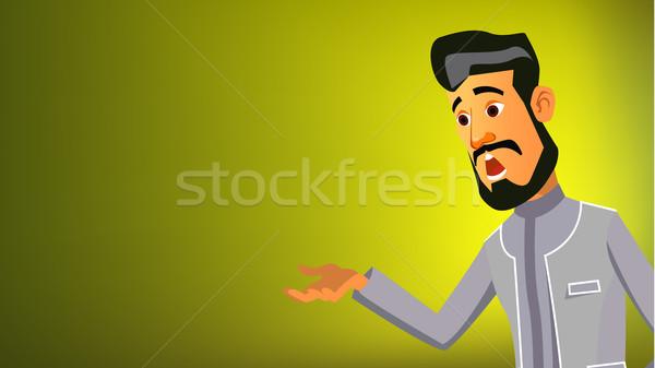 アラブ 男 バナー ベクトル ビジネスマン 伝統的な ストックフォト © pikepicture