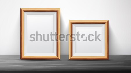 Realistic Black Frame Set Vector. Good For Posters, Presentations, Exhibition. Trendy Interior Illus Stock photo © pikepicture
