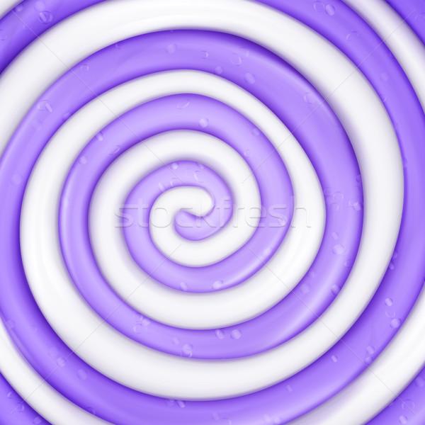 Nyalóka vektor valósághű cukorka lila örvény Stock fotó © pikepicture