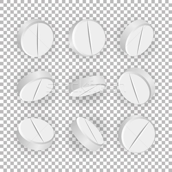 белый 3D медицинской таблетки наркотики вектора Сток-фото © pikepicture