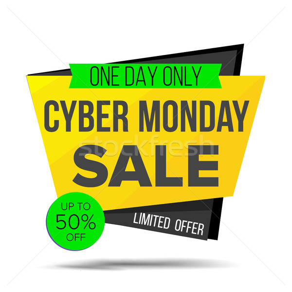Cyber Monday Sale Banner Vector. Discount Banner. Monday Sale Banner Tag. November Online Sales Conc Stock photo © pikepicture