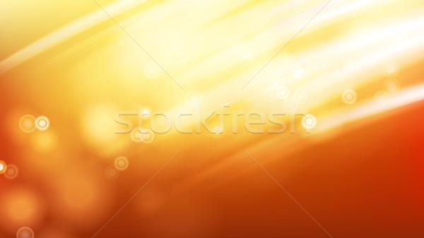 Lumière du soleil vecteur flare lumière effet été Photo stock © pikepicture