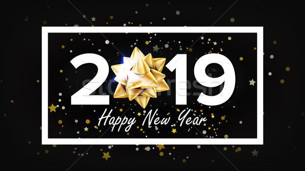 2019 Happy New Year Background Vector. Greeting Card Design Template. Christmas. Illustration Stock photo © pikepicture
