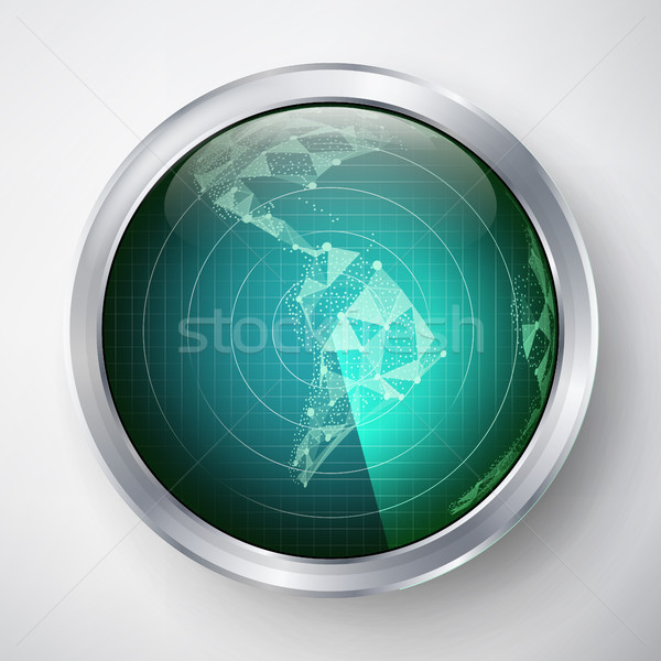 Radar Vector. South America. Futuristic User Interface HUD. Sci-fi Futuristic Crosshair. Stock photo © pikepicture