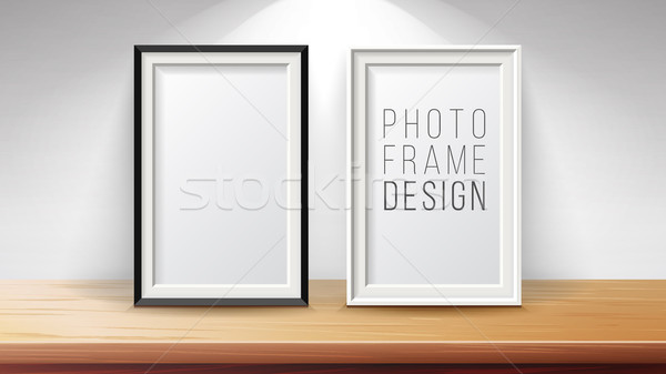 Vertical Frame Mock Up Vector. Good For Display Your Projects. High Quality Design Element Illustrat Stock photo © pikepicture
