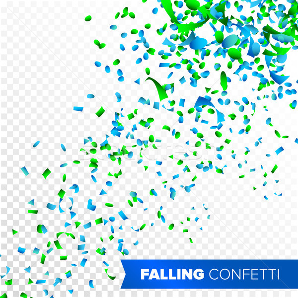 Stock photo: Confetti Falling Vector. Bright Explosion Isolated On White. Background For Birthday, Anniversary, P