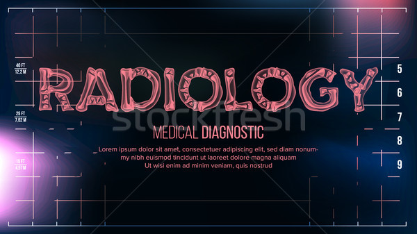 Radiologie banner vector medische transparant Xray Stockfoto © pikepicture
