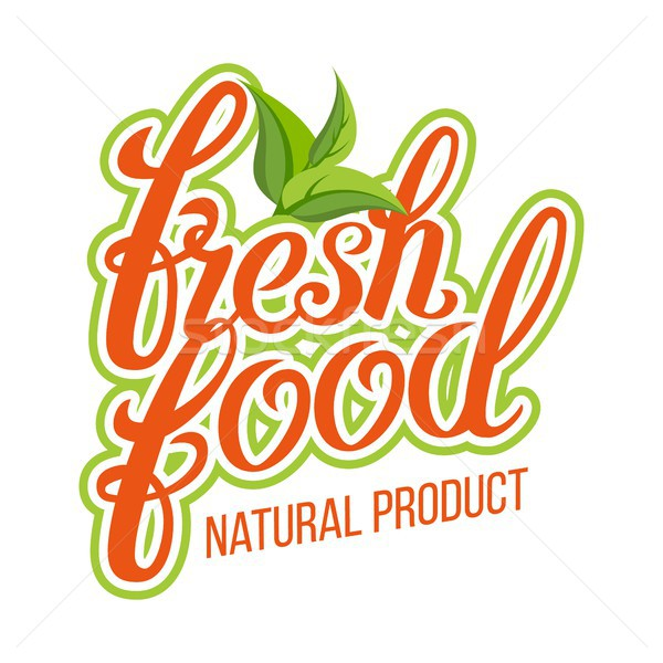 Fresh Food Vector. Organic Natural Product. Design Element For Market, Ecommerce, Product Ads. Handm Stock photo © pikepicture