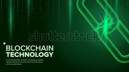 Blockchain Vector. Digital Code Chain. P2P. Development Software Platform. Investment Crypto Illustr Stock photo © pikepicture