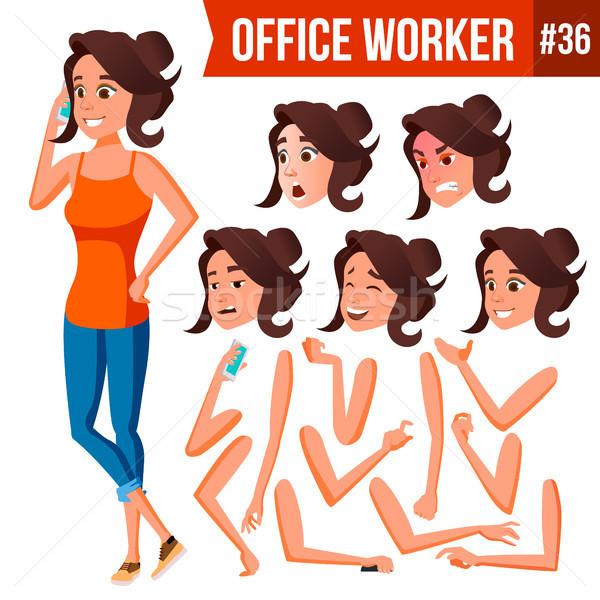 Oficinista vector mujer moderna empleado negocios Foto stock © pikepicture