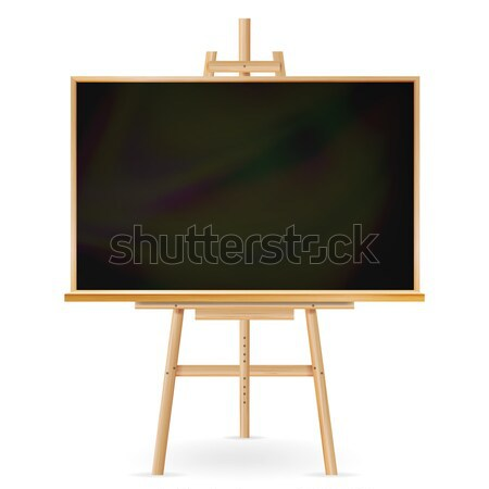 Stock photo: School Blackboard Vector. Wooden Frame. Classic Empty Education Chalkboard. Isolated Realistic Illus