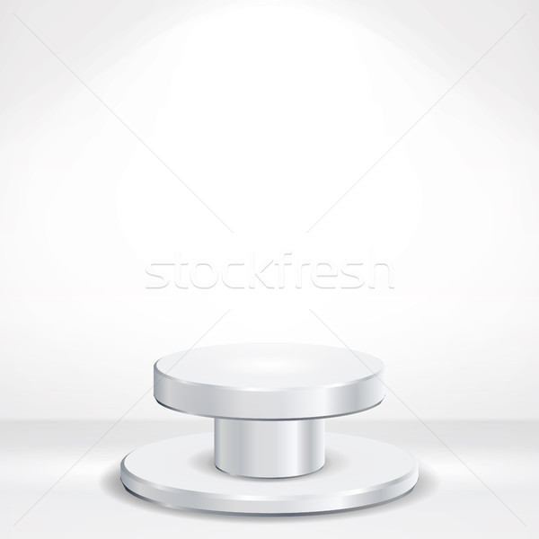 реалистичный подиум вектора белый студию интерьер Сток-фото © pikepicture