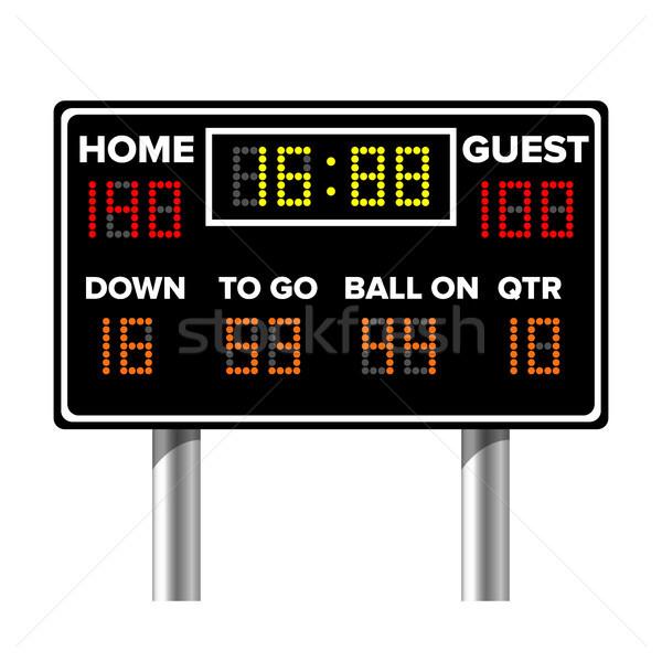 американский футбола табло спорт игры счет Сток-фото © pikepicture