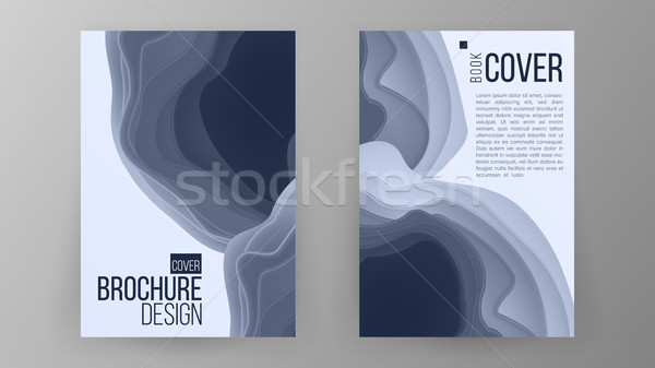 Brochure Design Vector. Magazine Poster. Annual Report Cover. Ilustration Stock photo © pikepicture