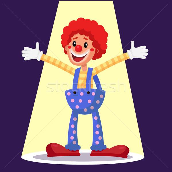 Boldog bohóc vektor cirkusz tevékenység előadó Stock fotó © pikepicture