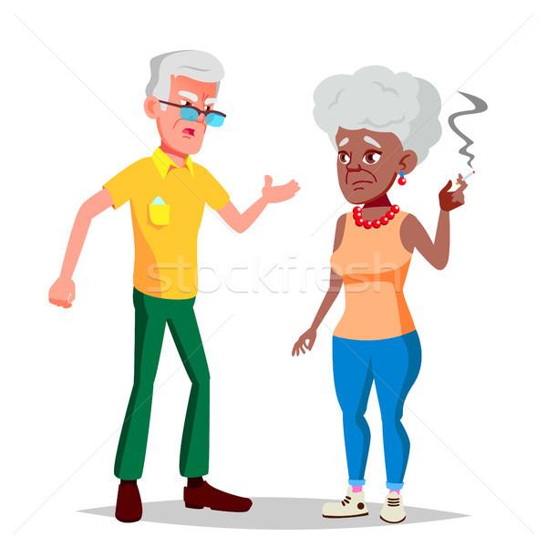 ältere Paar Vektor Opa Großmutter Lifestyle Stock foto © pikepicture