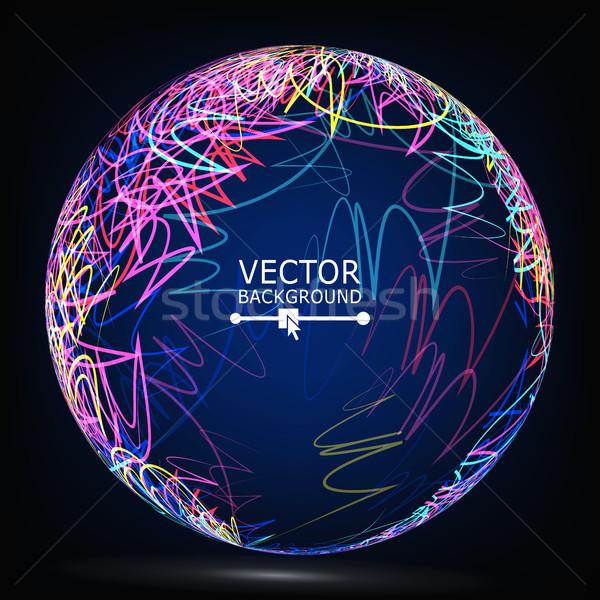 ストックフォト: 色 · 行 · 球 · ベクトル · 抽象的な