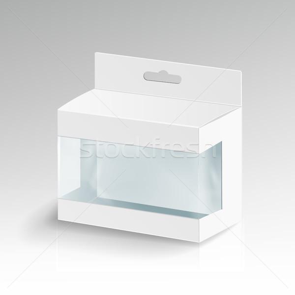 Bianco cartone rettangolo vettore 3D vuota Foto d'archivio © pikepicture