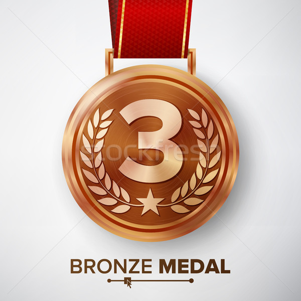 Bronze Medal Vector. Stock photo © pikepicture