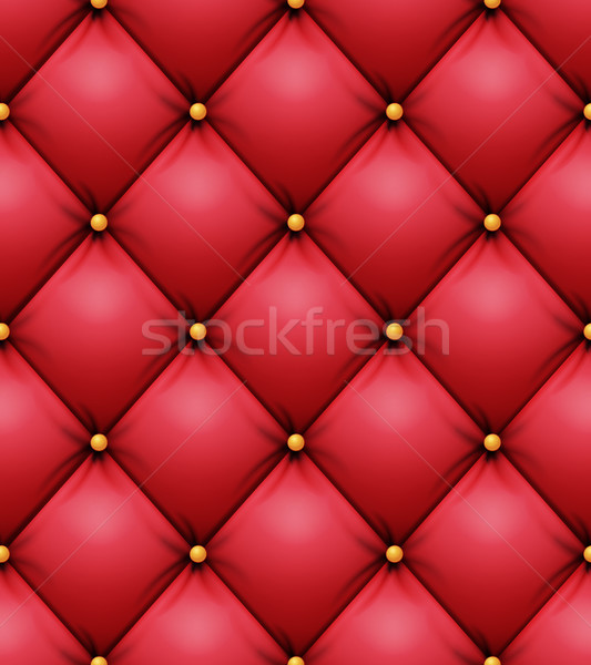 Quilted Pattern Vector. Red Leather Upholstery Background For A Luxury Decoration. Seamless Stock photo © pikepicture