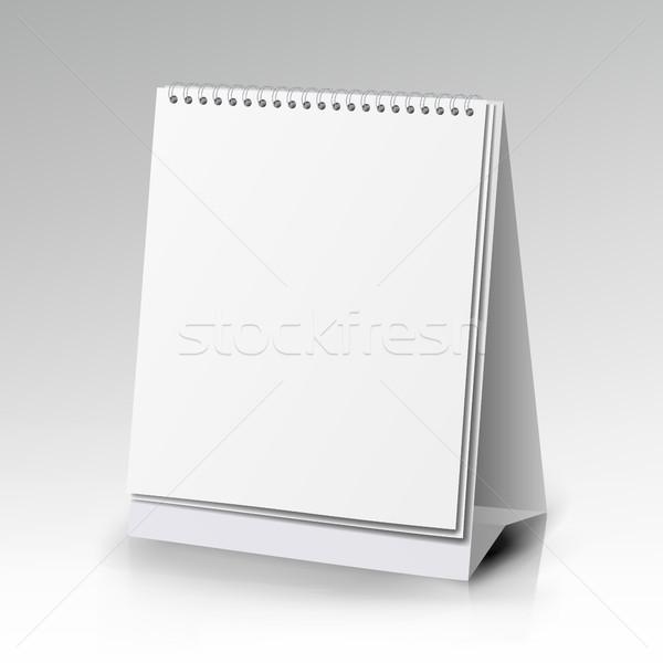 Verticaal realistisch permanente spiraal tabel kalender Stockfoto © pikepicture