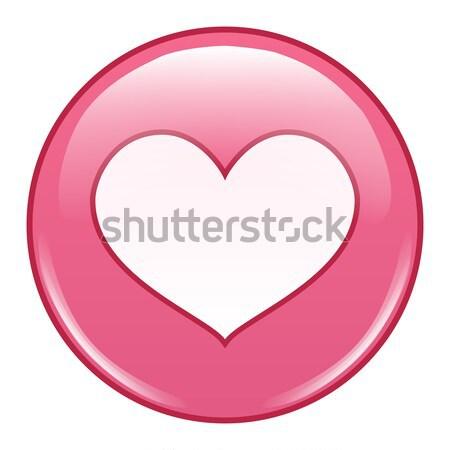 Emotikon ikon vektor szeretet érzelem boldogság Stock fotó © pikepicture
