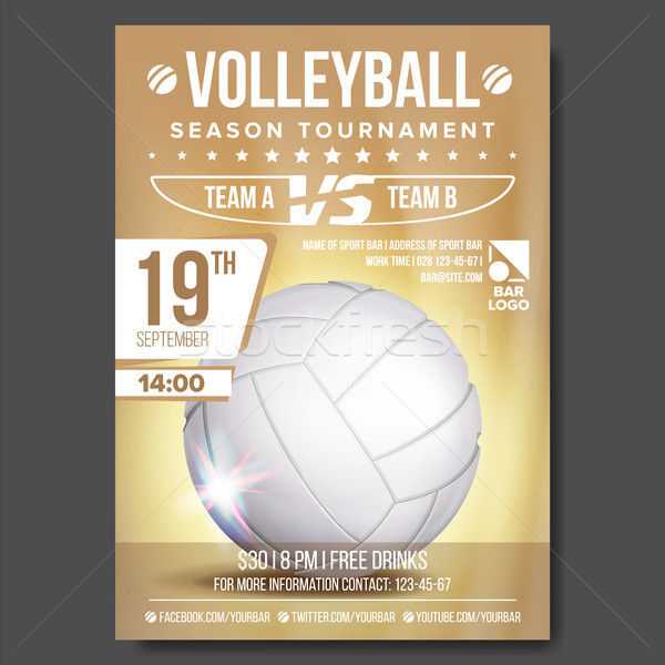 Voleibol anunciante vector banner publicidad arena Foto stock © pikepicture