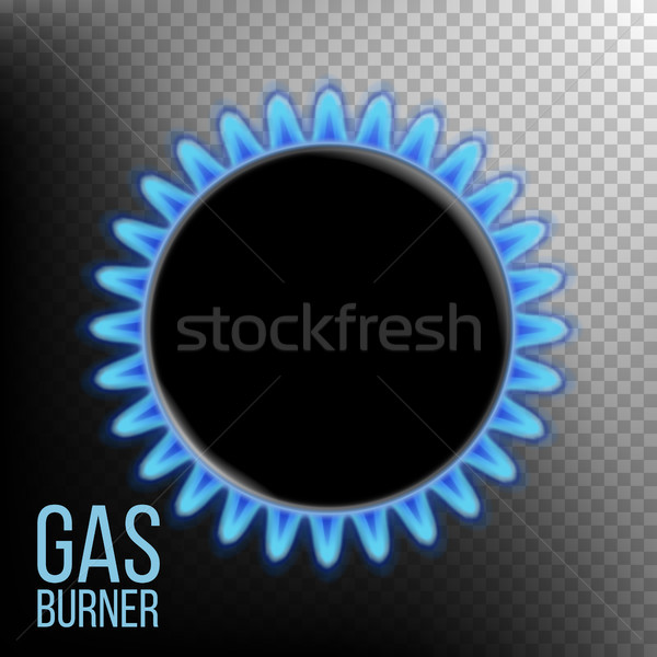 Gas Burner Vector. Burner Ring With Blue Flame. Isolated On Transparent Background Realistic Illustr Stock photo © pikepicture