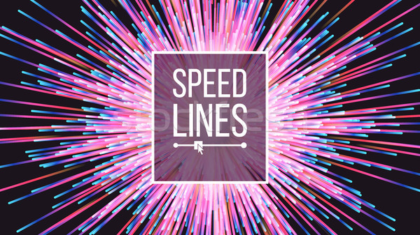 Abstract Speed Lines Vector. Flash Effect. Boom Background. Glowing Colorful Radial Lines. Illustrat Stock photo © pikepicture
