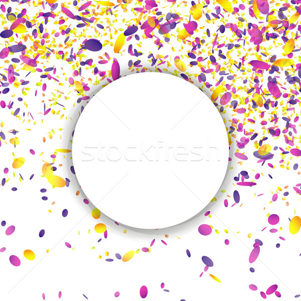 Confetti Falling Vector. Bright Explosion Isolated On White. Background For Birthday, Anniversary, P Stock photo © pikepicture