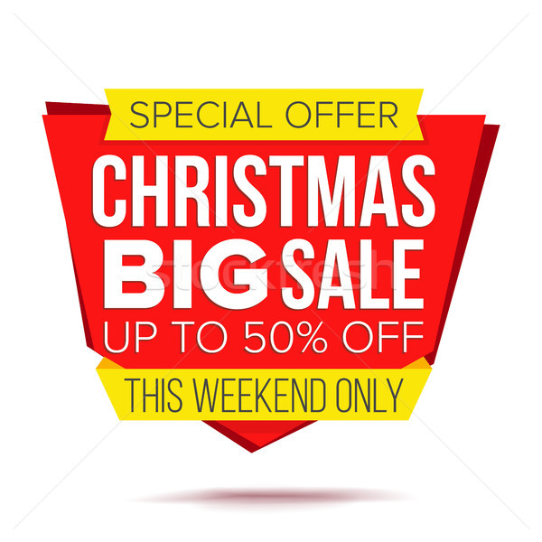 Christmas Discount Special Offer Sale Banner Vector. Isolated Illustration Stock photo © pikepicture