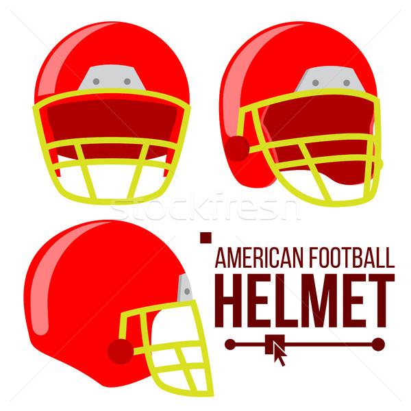 Capacete americano futebol vetor clássico vermelho Foto stock © pikepicture