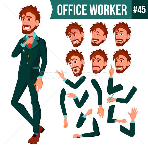 Ofis çalışanı vektör yüz duygular Stok fotoğraf © pikepicture