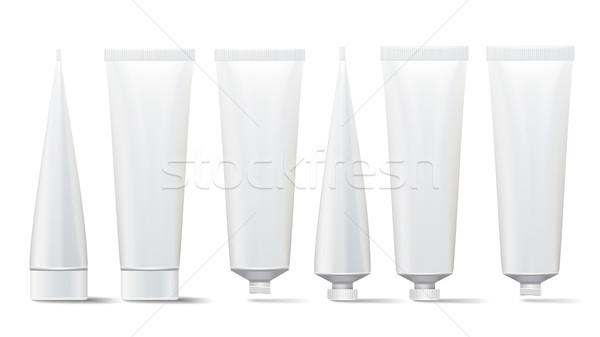 Cosmetische buis ingesteld vector omhoog room Stockfoto © pikepicture