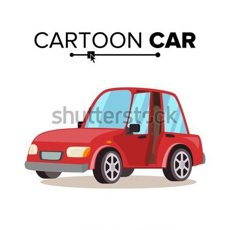 Cartoon Car Vector. Reg, Green, Blue. Flat Style. Isolated On White Illustration. Stock photo © pikepicture