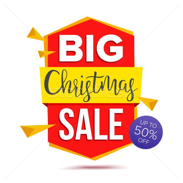 Nagy karácsony vásár szalag vektor ajánlat Stock fotó © pikepicture