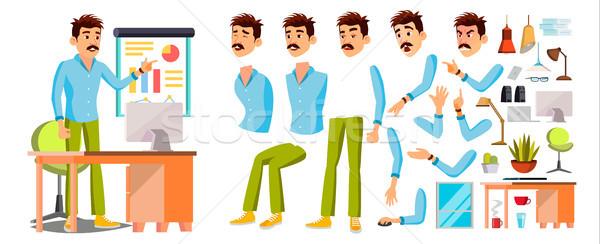 Zakenman werknemer karakter vector werken mannelijke Stockfoto © pikepicture