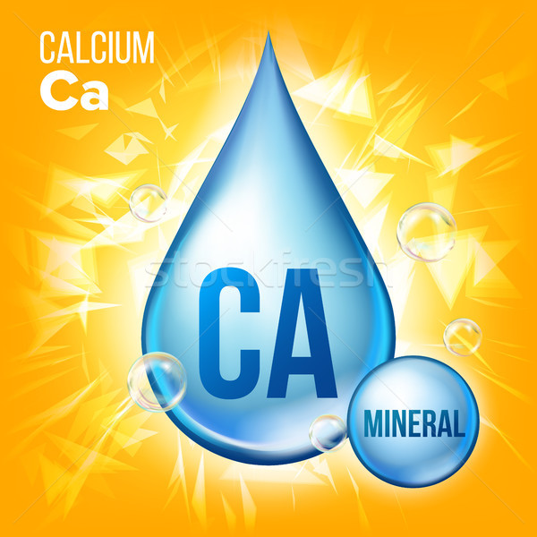 Calcium vector mineraal Blauw drop icon Stockfoto © pikepicture
