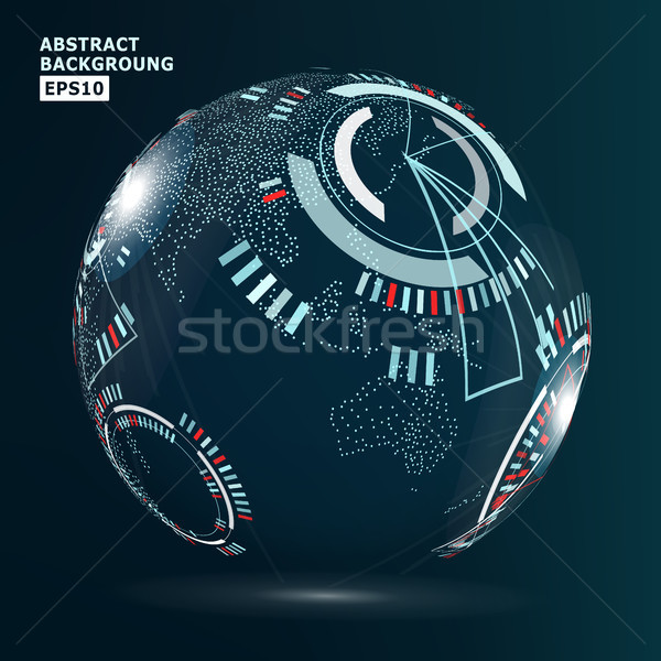 Futuristische globalisering interface vector abstract internet Stockfoto © pikepicture
