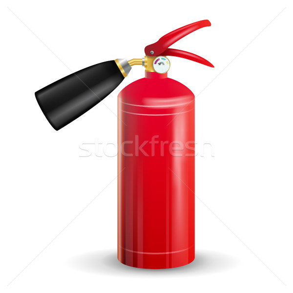 Fire Extinguisher Vector. Sign 3D Realistic Red Fire Extinguisher Isolated Illustration Stock photo © pikepicture