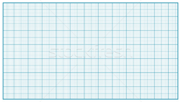 Millimeter Paper Vector. Blue. Graphing Paper For Education, Drawing Projects. Classic Graph Grid Pa Stock photo © pikepicture