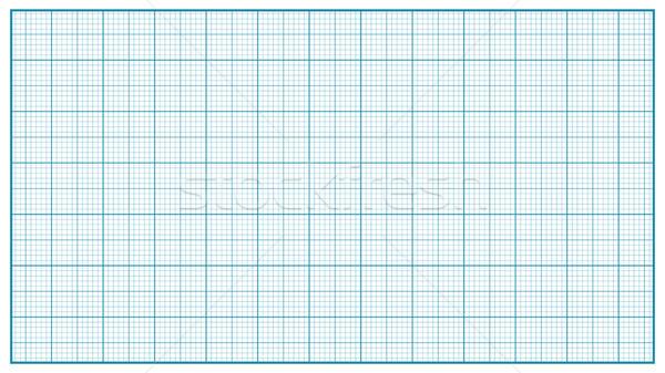 ミリメートル 紙 ベクトル 青 教育 図面 ストックフォト © pikepicture