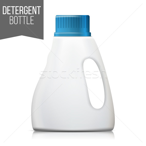 Mosószer üveg vektor műanyag konténer izolált Stock fotó © pikepicture