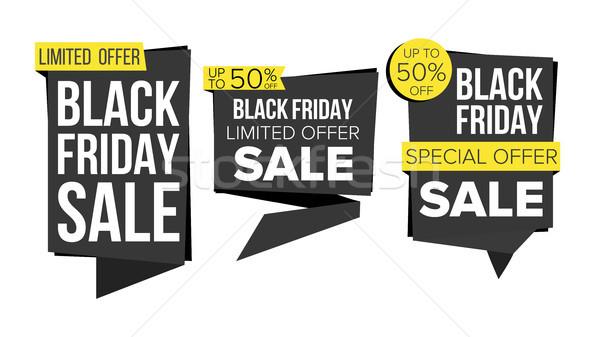 Black friday verkoop banner collectie vector website Stockfoto © pikepicture