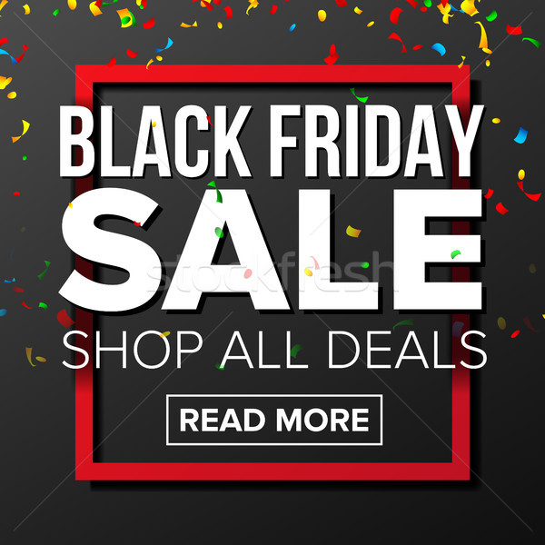 Black Friday Sale Banner Vector. Marketing Advertising Design Illustration. Template Design For Blac Stock photo © pikepicture