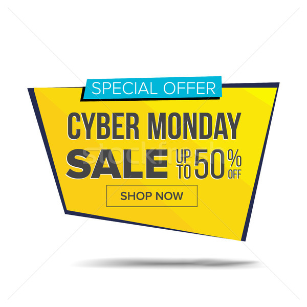 Cyber Monday Sale Banner Vector. Shopping Background. Discount Special Offer Sale Banner. Product Di Stock photo © pikepicture