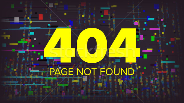 404 Error Page Vector. Broken Web Page Graphic Design. Failure Layout Server Illustration. Stock photo © pikepicture