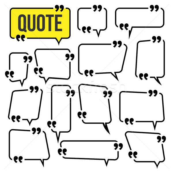 Quote Frame Set Vector. Website Review Icon. Information. Isolated Illustration Stock photo © pikepicture