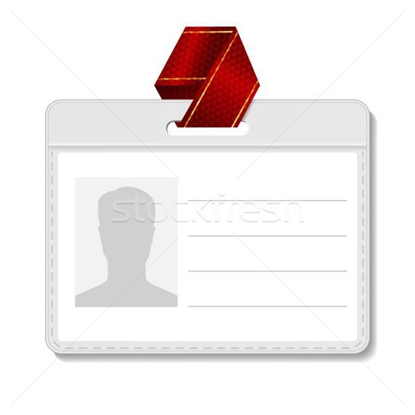 Identification Badge Vector. Id Card Blank. Name Template Profile Holder. Person Isolated Illustrati Stock photo © pikepicture
